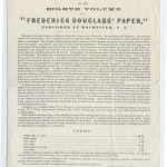 """Prospectus of The Eight Volume of """"Frederick Douglass' Papers"""""""