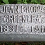 The grave of Jean Brooks Greanleaf