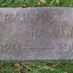 The grave of Mary H. Post Hallowell