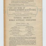 The History of Woman Suffrage advertisement in booklet